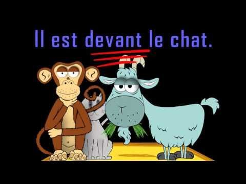 French prepositions video by Alain Le Lait: Où est le chat? prépositions
