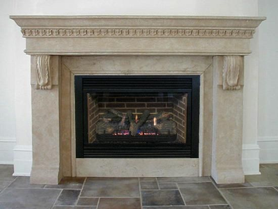 The Roman- The Roman fireplace mantel features straight legs with  architectural ornamentation as well as - 18 Best Fireplace Mantels Images On Pinterest