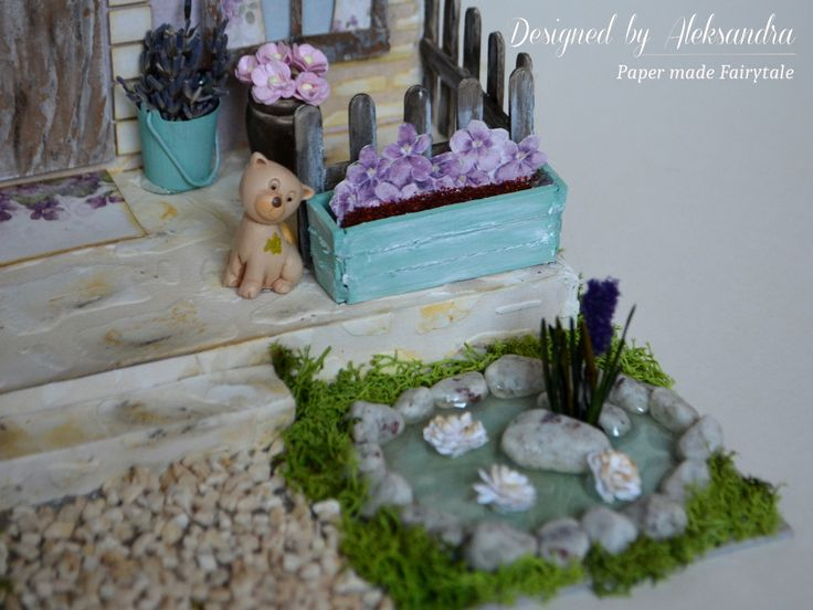 Provence cottage miniature with Pion Design papers