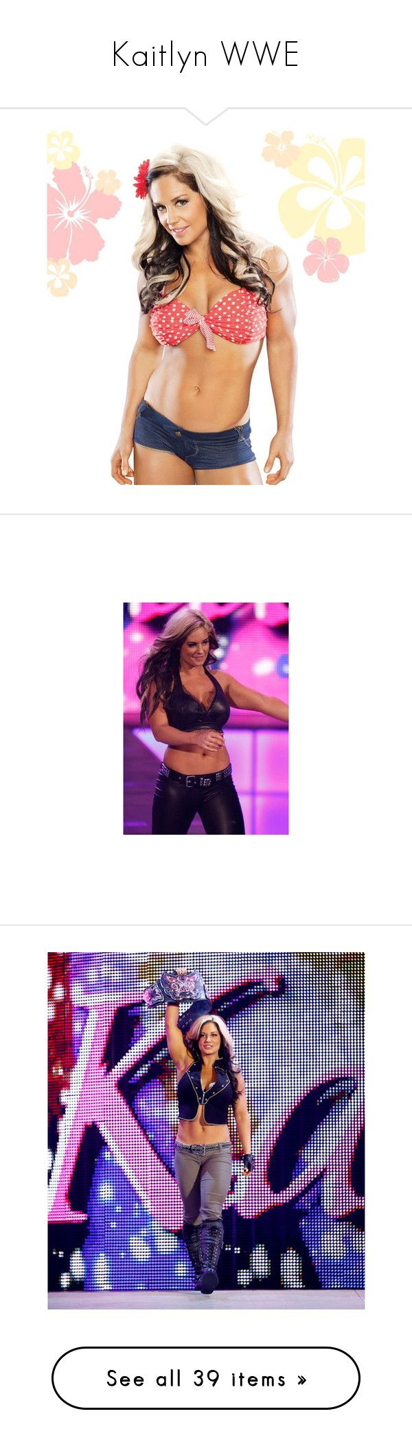 """""""Kaitlyn WWE"""" by thefuturemrsambrose ❤ liked on Polyvore featuring wwe, kaitlyn, wrestling, divas, intimates, hosiery, socks, people, home and home decor"""