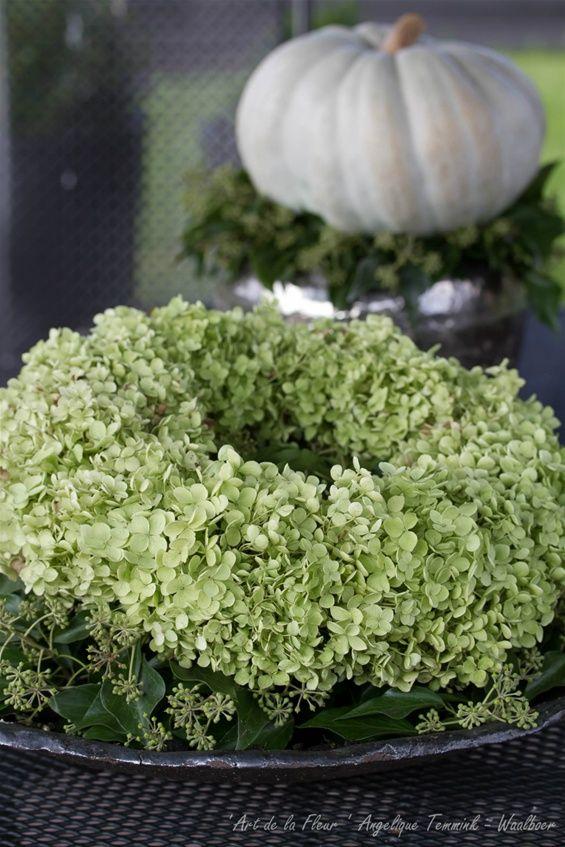 Herfst hortensiakrans