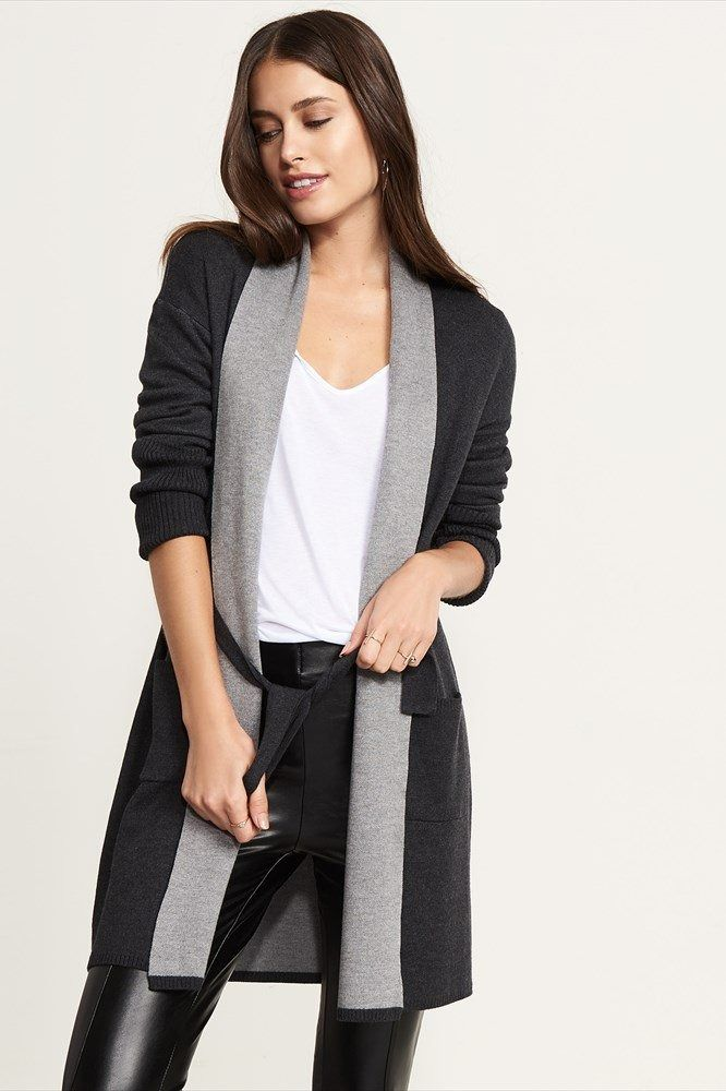 Belted Cardigan With Pockets