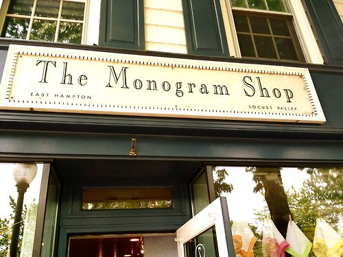 The Monogram Shop.....there is one in Harbor Springs, Michigan.  I want to own a shop like this!!!!!