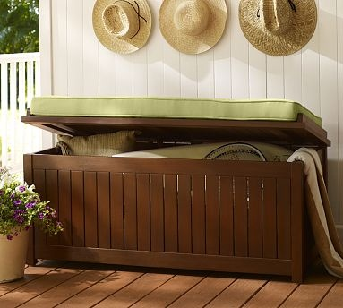 Chesapeake Storage Bench Potterybarn For The Home Pinterest The O 39 Jays Decks And Storage