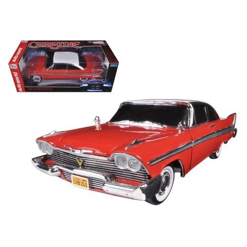 "1958 Plymouth Fury ""Christine"" Night Time Version 1/18 Diecast Model Car by Autoworld"