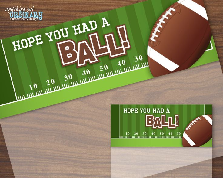 Football Bag Toppers, Have a BALL Football Treat Bag Labels, Printable Football Birthday, INSTANT DOWNLOAD digital file by ABOcustomDesign on Etsy https://www.etsy.com/listing/266586238/football-bag-toppers-have-a-ball
