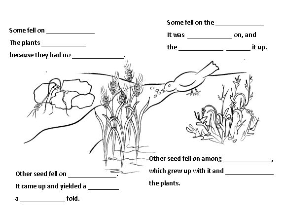 coloring pages seeds soil - photo#25