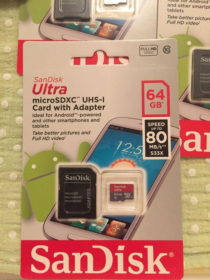 Sandisk Ultra Microsdhc 64gb Memory Card With Adaptor 80
