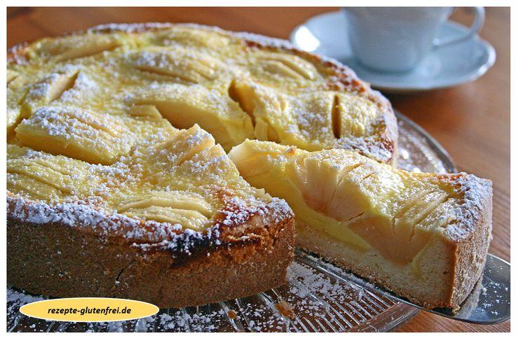 Apfelkuchen nach Elsässer Art! Saftig und lecker! www.rezepte-glutenfrei.de