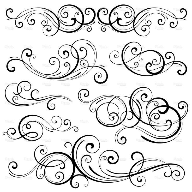 Swirl Elements stock vector art 15426300 - iStock