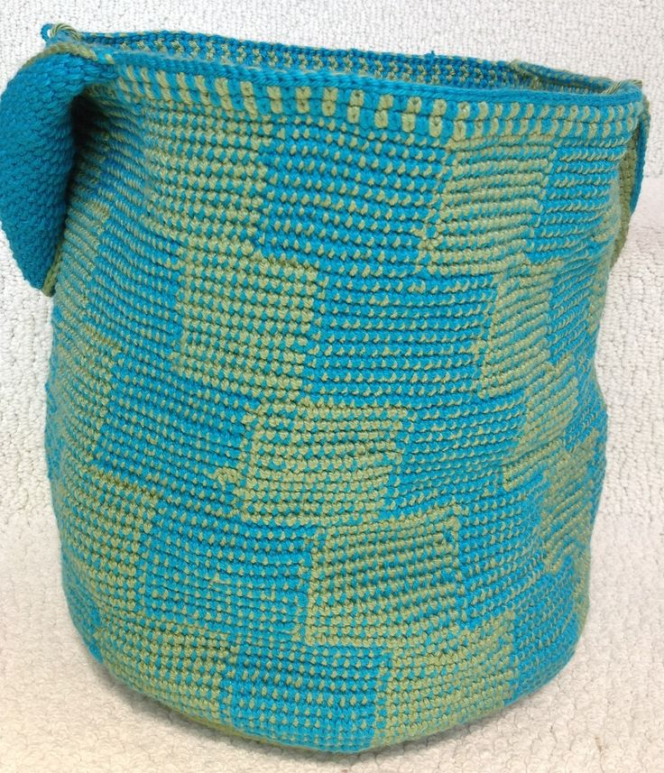 Deep Teal African Inspiration Crochet Bag