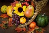 November Big Picture By Molly Hall, About.com Guide  Cornucopia - The Horn of Plenty  The wicker horn filled with nuts, fruit and other goodies is the Cornucopia. Both Cornucopia and Capricorn have the same word fragment cornu/corn, meaning horn. November is the month of Thanksgiving and its holiday symbol is the Horn of Plenty.  A theme this month is getting serious about nourishment, and marshaling psychic and material resources to meet the demands of the times.  Let's consider how…