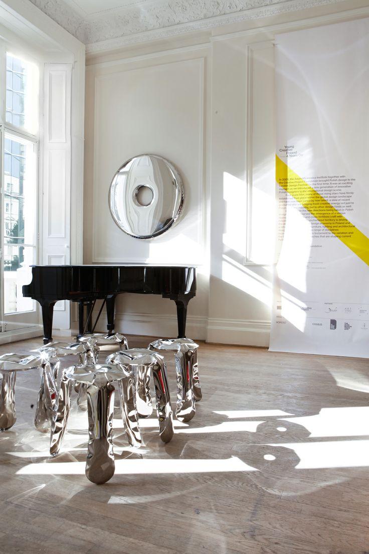LDF 2013 - Young Creative Poland. PLOPP stool: https://shop.zieta.pl/en,p,,1,plopp_standard_stool.html RONDO mirror: https://shop.zieta.pl/en,p,,17,rondo_inox_mirror.html