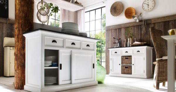 Not only do sliding cupboard doors look good, but they serve a purpose too. Say you want a storage piece but in a tricky space where opening cupboard doors might prove difficult, sliding doors are the perfect solution. And don't forget the drawers on top.