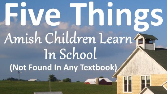 5 things Amish Children learn in school