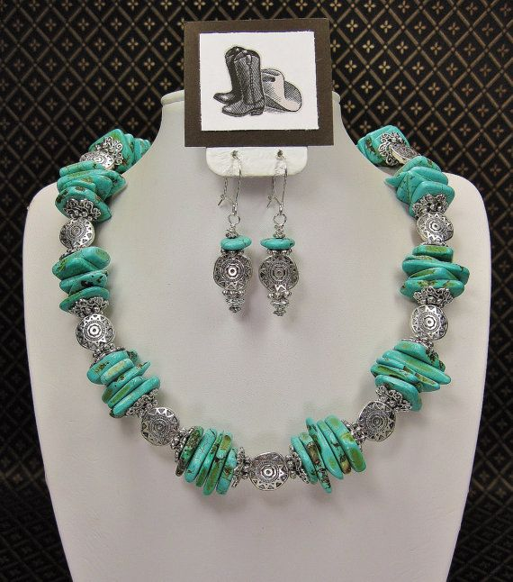TURQUOISE STATEMENT CHUNKY Southwest by CayaCowgirlCreations, $48.50