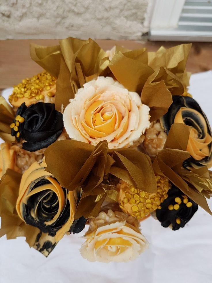 Rice Krispie cupcake bouquet