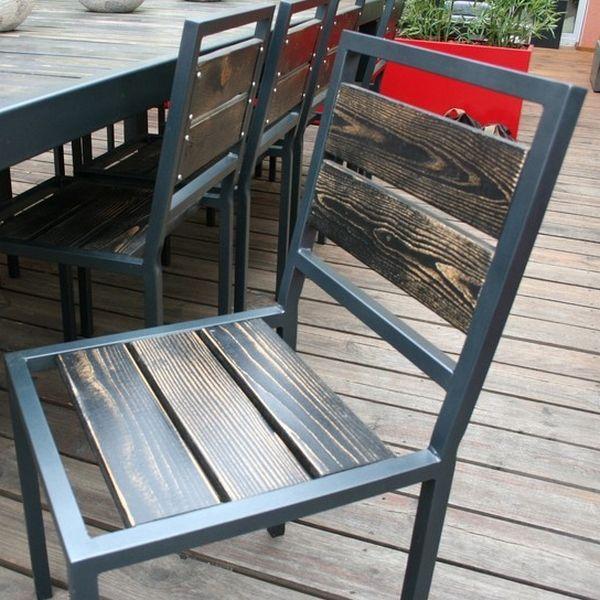 Decouvrez La Chaise Metal Bois Cette Chaise De Salle A Manger Pour Votre Table Metal De Repas Est Ideale Pour Un Sal Furniture Metal Furniture Steel Furniture