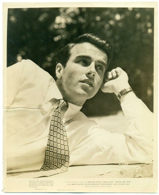 Montgomery Clift in a publicity still for Red River