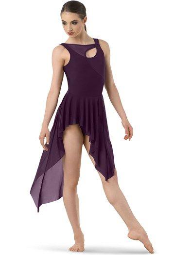 Asymmetrical Handkerchief Hem Mesh Dress | Balera™