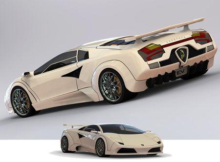 Lamborghini Countach EV Concept redesign