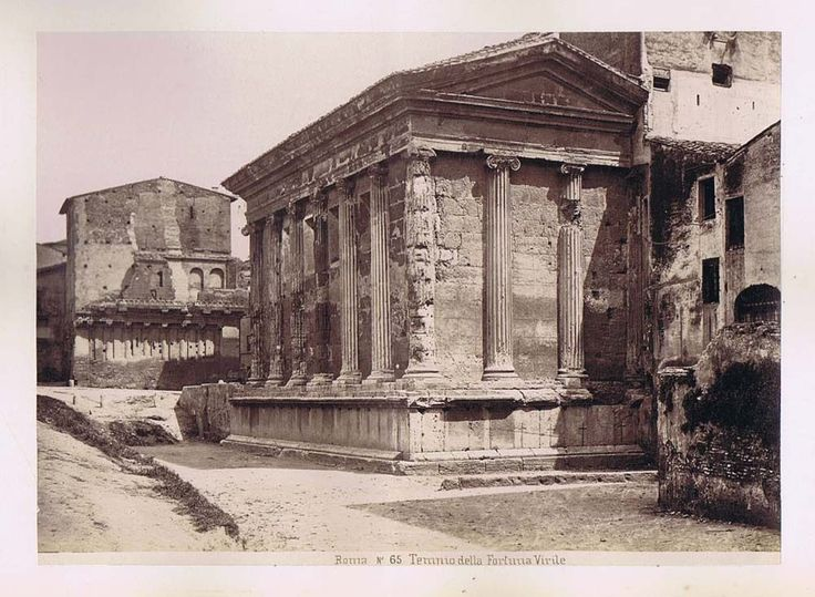 Rome Temple of Portunas 4 Other Italy 5X Antique Albumen Photographs C1890 | eBay