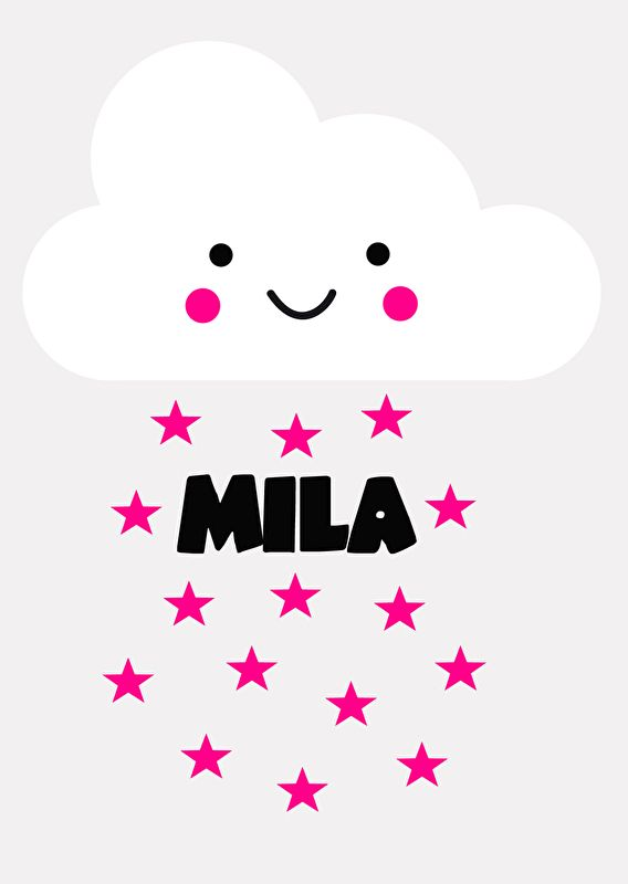 Geboortesticker type Mila