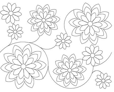 Wasatch Digital Quilting Designs : Flower Power Edge to Edge by Wasatch Quilting Long Arm Quilting Designs from The Batty Quilter ...