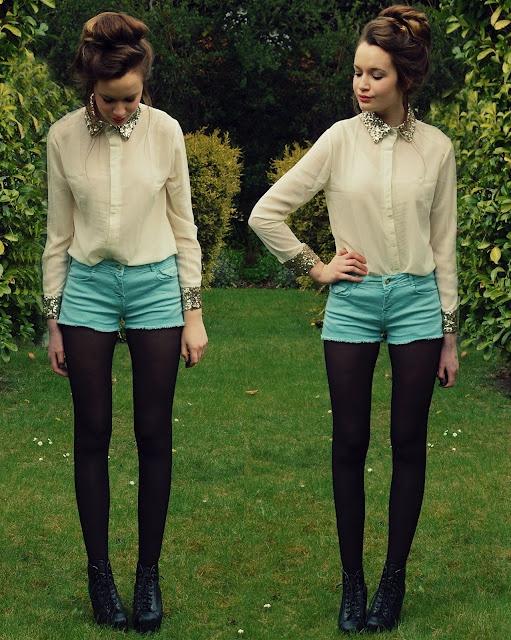 Loving these shorts! http://unemaisondelamode.blogspot.com/