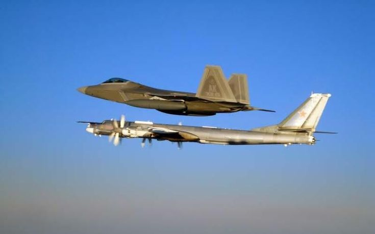 The Aviationist » U.S. F-22s, F-15s intercepted two pairs of Russian Tu-95 bombers off Alaska and California on July 4th