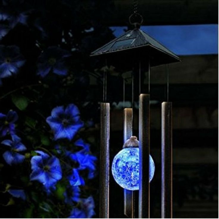 Solar Light Wind Chime Lamp Outdoor Decor Garden Ornament Colour Changing Chimes