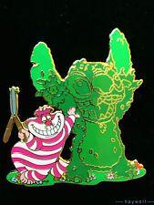 RARE Disney Auctions CHESHIRE CAT TOPIARY STITCH Lilo & Stitch Alice LE 100 Pin