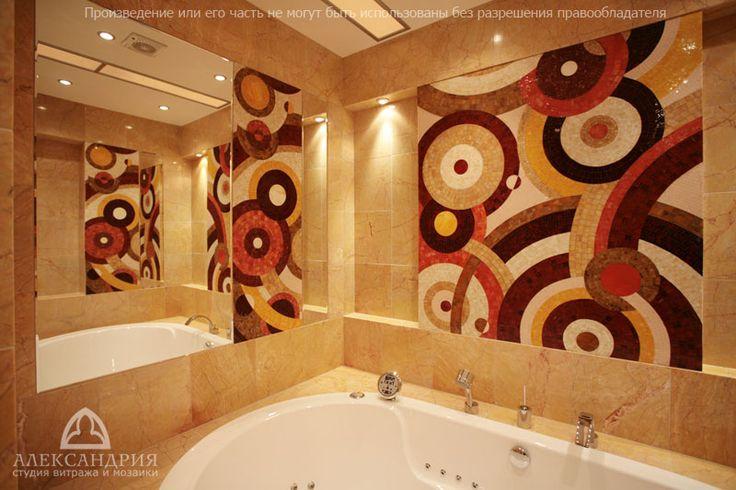 Мозаичные панно, зеркала и вставки в стиле Art Deco
