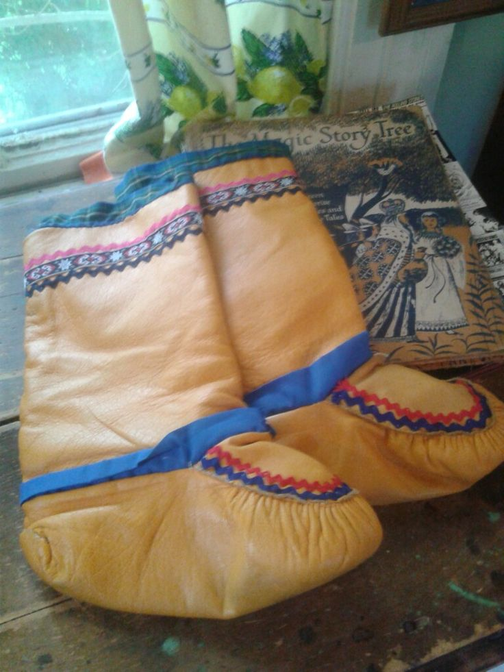 HAND made leather mukluks First Nations Labrador $130.00