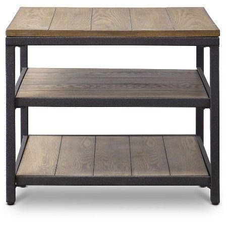 Caribou Wood and Metal End Table - Baxton Studio : Target
