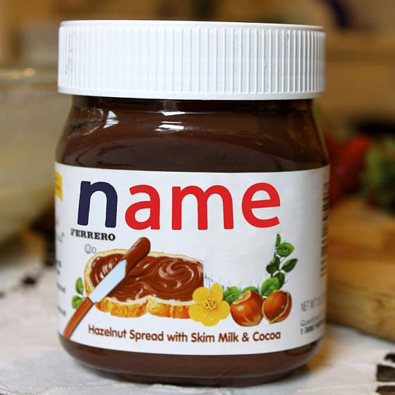 Nutella Label Birthday gifts for her ideas Birthday gifts for boyfriend Birthday gifts for bestfriend Best friend gift ideas Gifts for dad