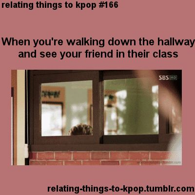 When you're walking down the hall & see your friend. #KimWooBin