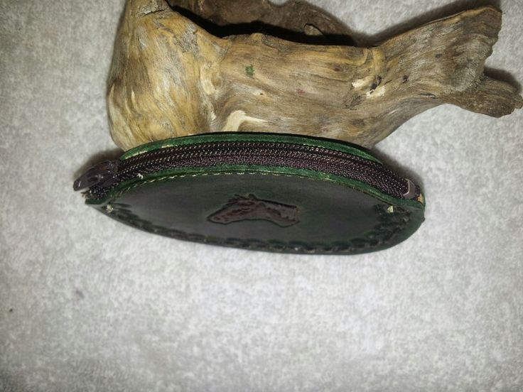 This photo shows the closure on the Small Change Purse. $15