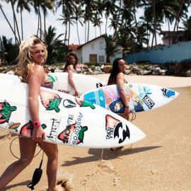 Surfing Holiday at Arugam Bay, Sri Lanka - Your surfing companions are rather attractive!