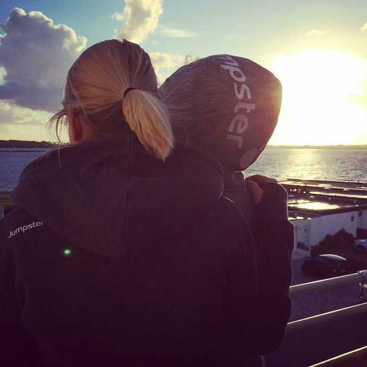 Beautiful weather beautiful pictures and beautiful people this is how a summer is supposed to be  luckily lovely @marleenvonundzujakob has it all this year    #jumpster #jumpstermoment #sundown #fehmarn #beauty #hugs #sisters #potd #ootd #fashion #hoodie #doyouseeit