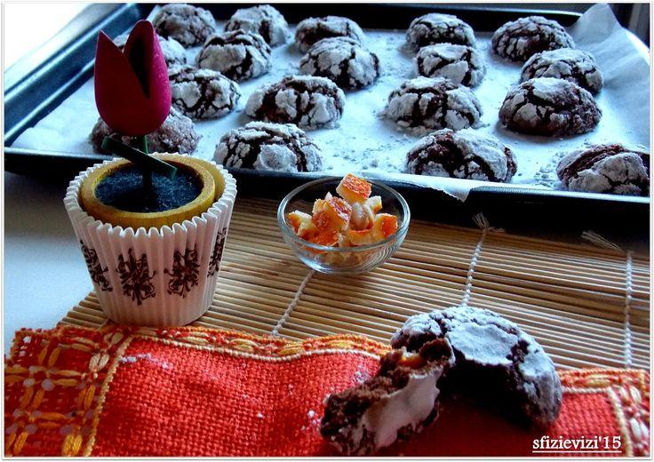 Biscotti al cioccolato con arance candite - ricetta riciclo uova di Pasqua ovvero il cioccolato che sposa l'arancia http://sfizievizi.blogspot.it/2015/04/biscotti-al-cioccolato-con-arance.html