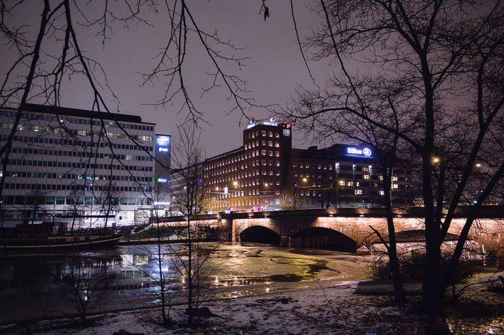 Helsinki, January 2015  Pitkäsilta, Långa bron, The Long Bridge