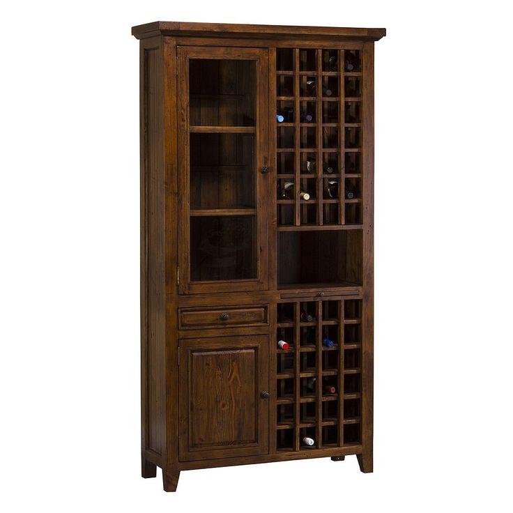Hillsdale Furniture Tuscan Retreat Tall Wine Storage Cabinet, Brown