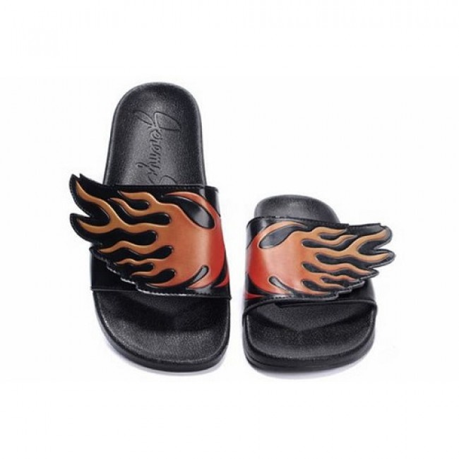 Discount Mens Adidas Jeremy Scott Wing Adilette Sandals Red Flames For $68.00 Go To: http://www.jeremyscottvip.com