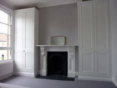 Image result for wardrobes around fireplace