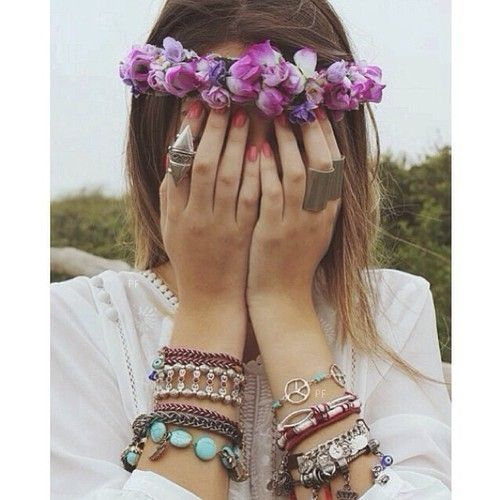Flower Headbands, Accessories, Bracelets Shops, Jewelry Accessories, Tumblr Flower Crowns Fashion, Flower Power, Fashion Jewelry, Boho, Jewelry Shops