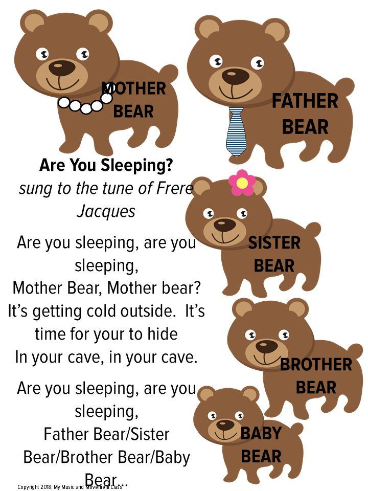 Hibernation Song, Bear Song, Preschool Music and Movement ...
