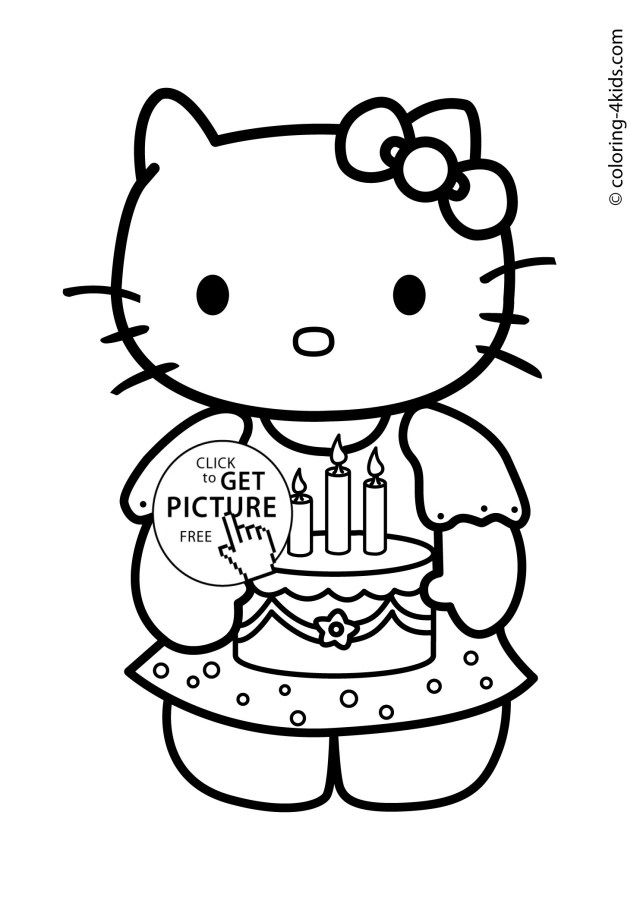 Brilliant Image Of Printable Birthday Coloring Pages Entitlementtrap Com Hello Kitty Colouring Pages Hello Kitty Coloring Kitty Coloring