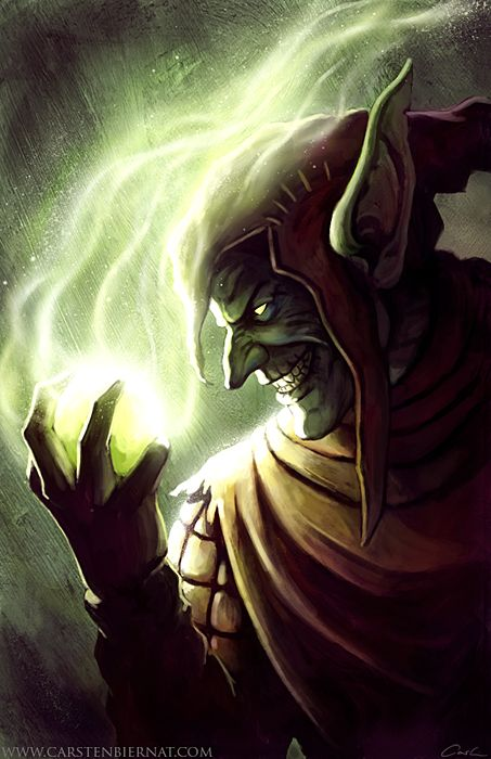 The Green Goblin // artwork by Castern Biernat (2011)