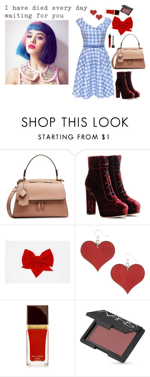 """Contemporary Dorothy from the Wizard of Oz"" by theater-potter-dance-warriors ❤ liked on Polyvore featuring Victoria Beckham, Jimmy Choo, NARS Cosmetics, Jouer and contemporary"